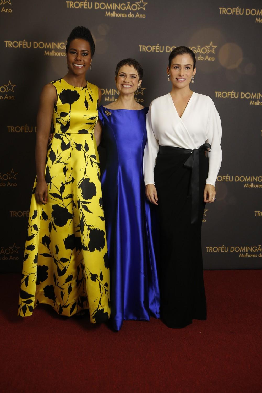 Renata Vasconcellos, Sandra Annenberg e Maju Coutinho; Globo
