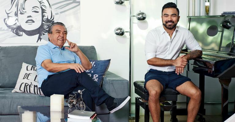 Mauro de Sousa e o pai, Maurício de Souza (Foto: Reprodução)