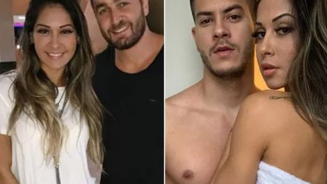 Mayra Cardi com o ex-marido, Greto Guariz, e o atual, Arthur Aguiar (Foto: Reprodução/Instagram)