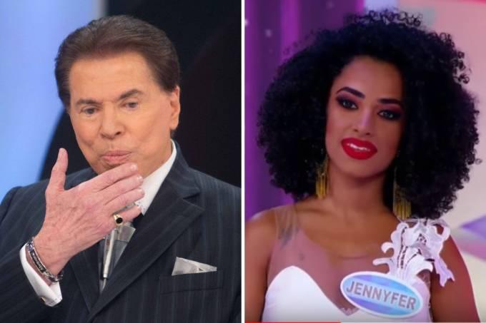 Silvio Santos foi acusado de racismo durante seu programa neste domingo (Reprodução)