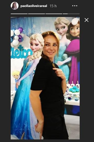 Paolla Oliveira posa ao lado de princesa da Disney e encanta Reprodução/Instagram