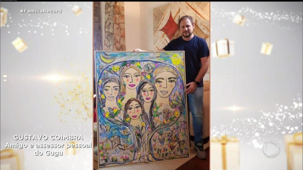 Ticiane Pinheiro manda fazer quadro para entregar para a família de Gugu Liberato (Foto: Reprodução)
