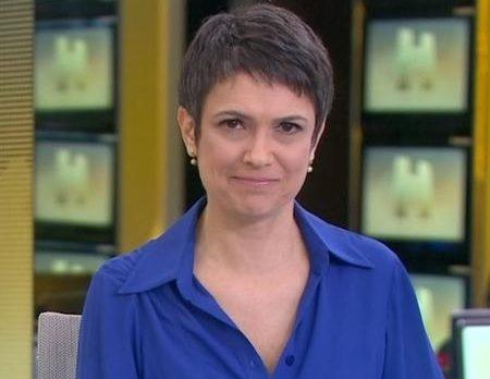A jornalista Sandra Annenberg está atravessando um momento conturbado na Globo (Foto reprodução)