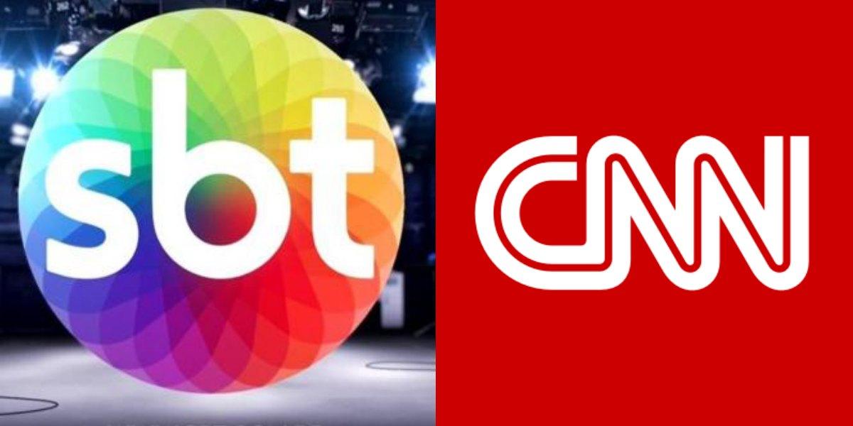 Logo SBT e CNN. Foto: Reprodução