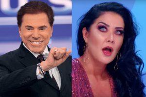 Silvio Santos brinca que saiu com Helen Ganzarolli e revela que apresentadora é fria igual geladeira. Foto: Reprodução