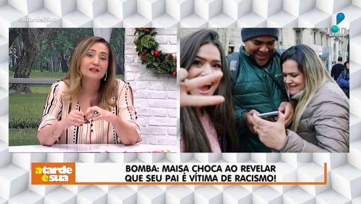 Sonia Abrão falou sobre Maisa Silva em seu programa (Foto: Reprodução/YouTube)