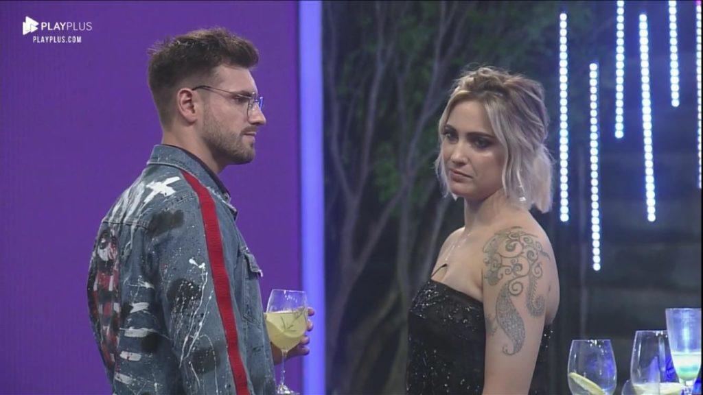 Tatiana Dias e Gui Leão brigam por causa de Bifão em reality da Record (Foto: Reprodução/PlayPlus)