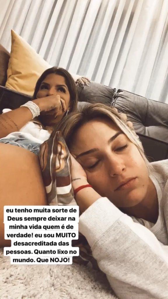Tati Dias posta indireta (Foto: Reprodução)