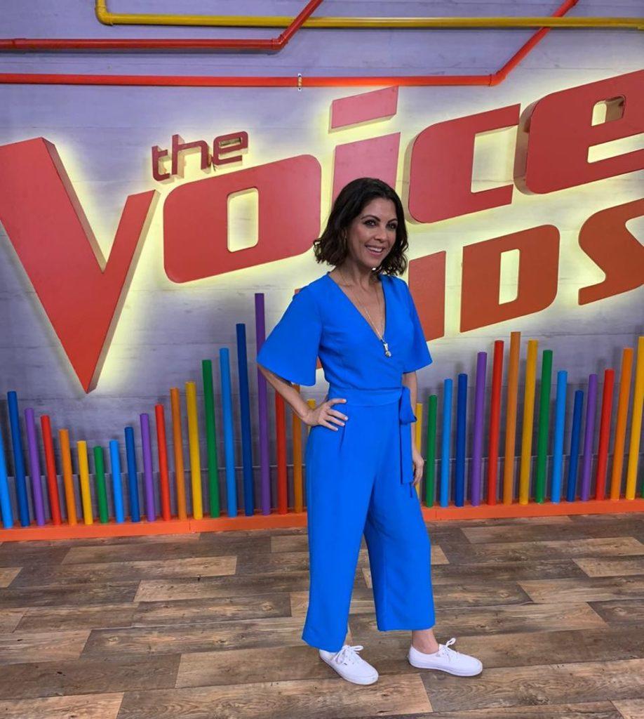 Thalita Rebouças durante a coletiva do The Voice Kids (Foto: Reprodução/TV Globo)
