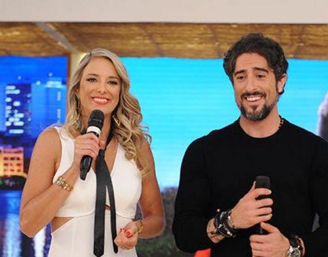 Ticiane Pinheiro tirou Gugu Liberato e Marcos Mion foi tirado pelo apresentador no amigo secreto da Record. Foto: Reprodução