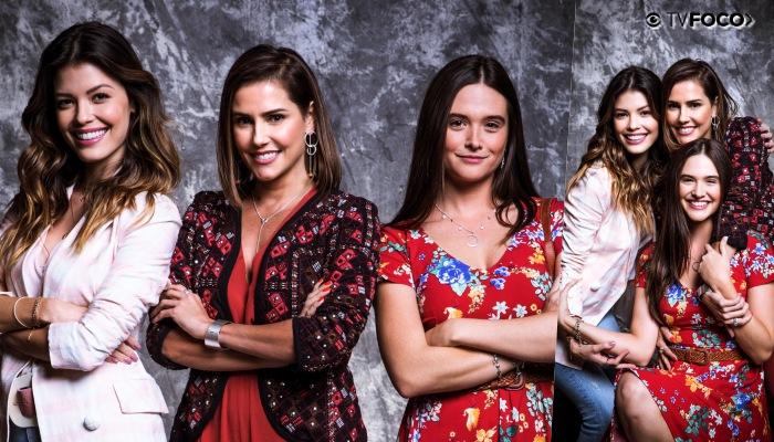 Vitória Strada, Deborah Secco e Juliana Paiva formam as protagonistas de Salve-se Quem Puder