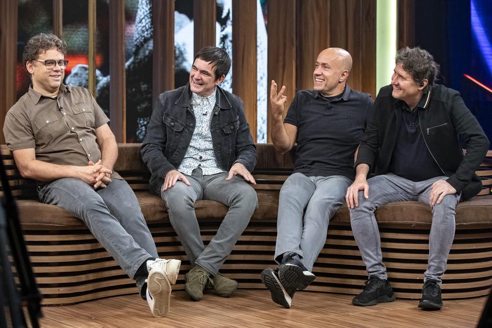 O grupo Skank esteve no programa Conversa com Bial (Foto: Foto: Globo/Fábio Rocha)