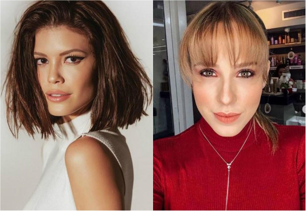 Vitória Strada e Marcella Rica; atrizes são namoradas (Foto: Reprodução/Montagem)