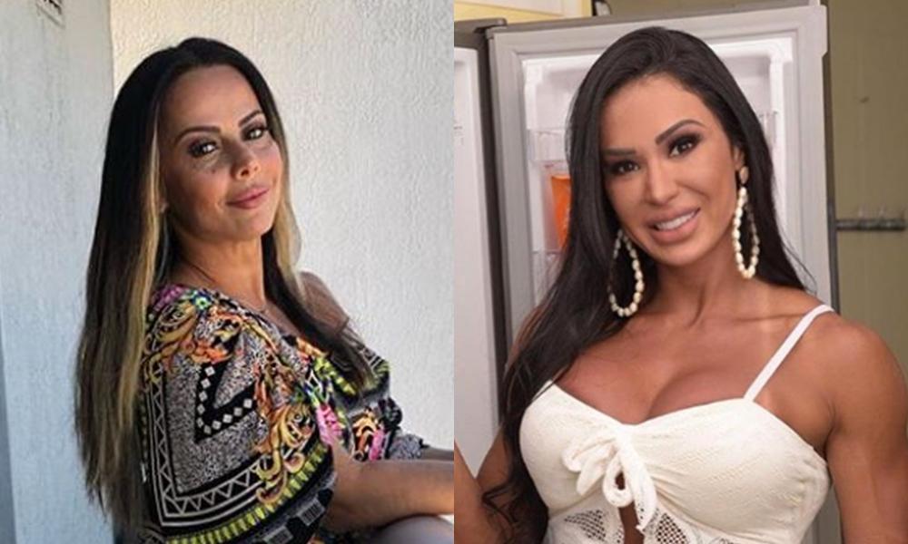 Gracyanne Barbosa e Viviane Araújo não se suportam  (Foto: Montagem TV Foco)