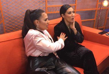 Simone & Simaria durante a coletiva do The Voice Kids (Foto: Reprodução/TV Globo)