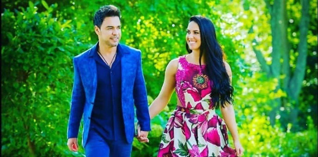 Zezé Di Camargo e sua noiva Graciele Lacerda (imagem: Instagram)