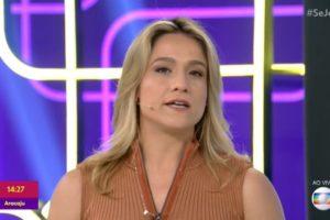Fernanda Gentil no comando do Se Joga, que fez a Globo amagar 3º lugar na audiência (Foto: Reprodução/Globo)