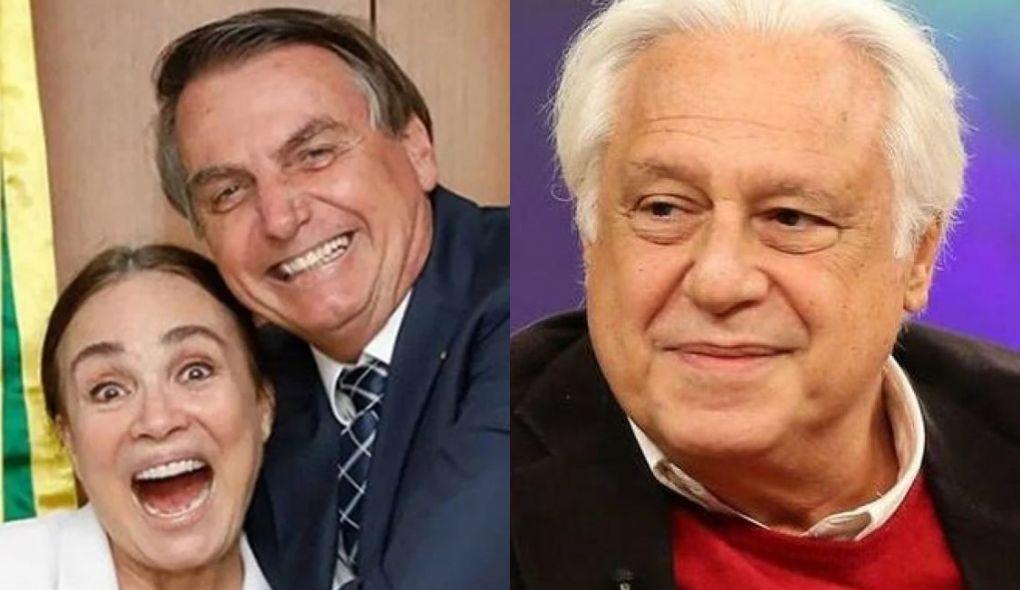 Regina Duarte, Jair Bolsonaro e Antônio Fagundes (Foto: Montagem/TV Foco)
