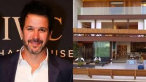 Murilo Benício exibiu a sua mansão na TV e chamou a atenção pela ousadia do imóvel (Foto: Montagem/TV Foco)