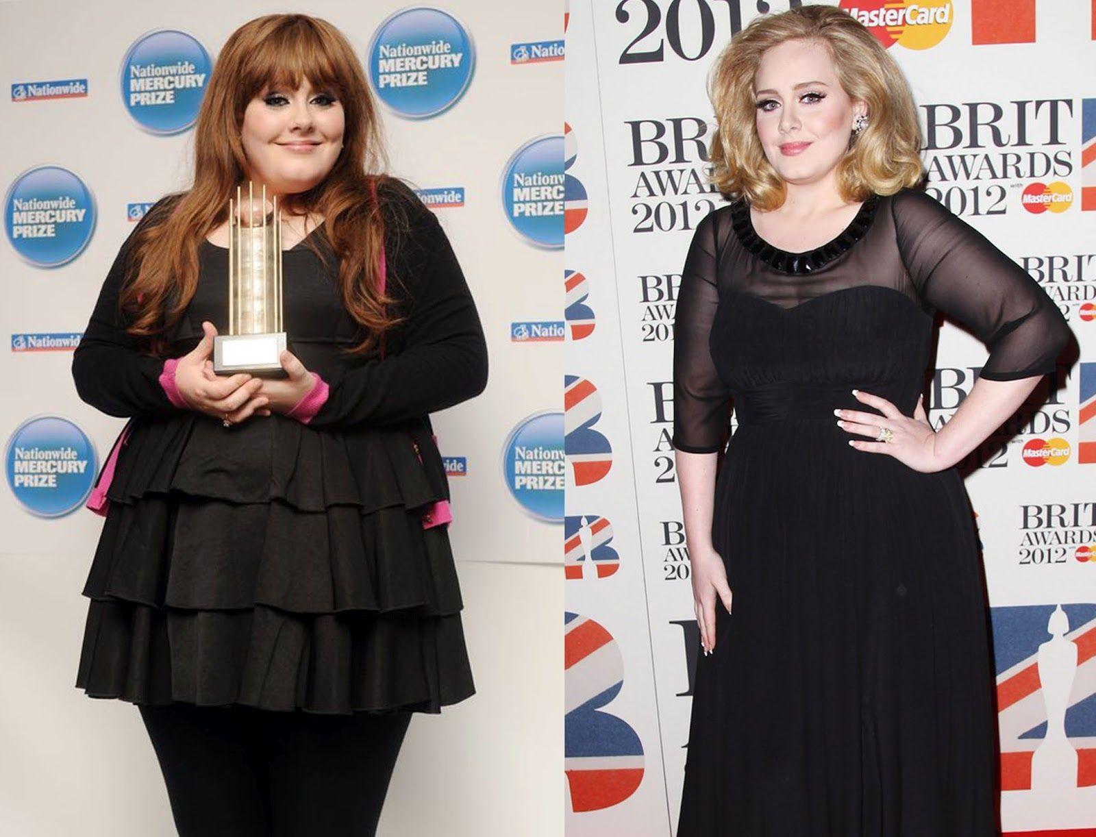 Antes e depois de Adele (Foto: Reprodução)