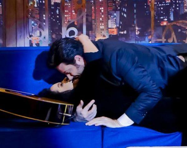 Maraisa e Danilo Gentili já se beijaram (Foto: Reprodução)