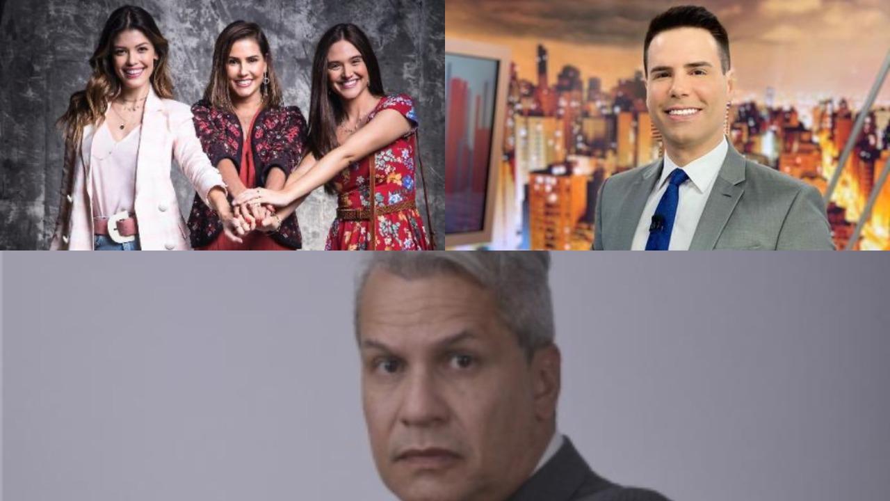 Sikêra Jr, Salve-se Quem Puder e Luiz Bacci foram destaques de audiência (Foto: Divulgação/Globo/RedeTV!/Record/Montagem TV Foco) SBT