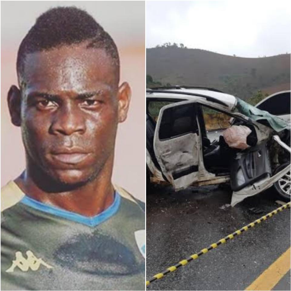 Mário Balotelli se envolve em acidente de carro na virada de ano (Foto: Reprodução)
