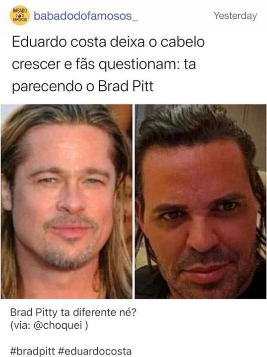 Eduardo Costa é comparado a Brad Pitt (Foto: reprodução)