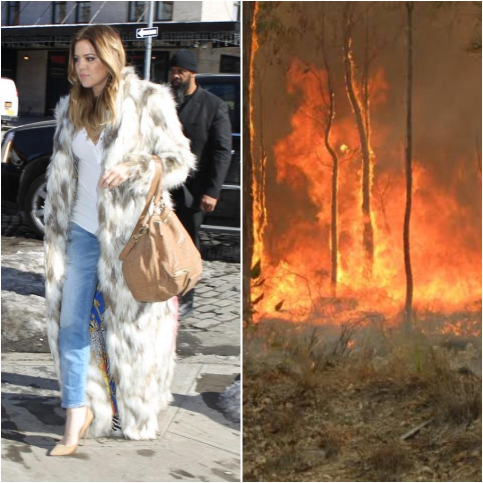 Khloé Kardashian é detonada por fã após posicionamento sobre os incêndios na Austrália (Foto: Reprodução)
