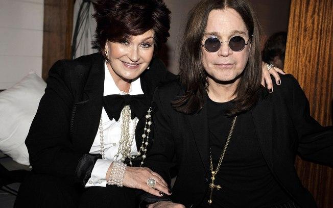 Ozzy e sua esposa Sharon Osbourne (Foto: Reprodução)