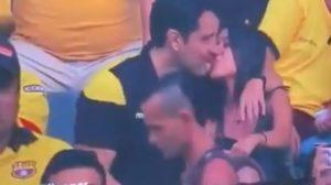 Torcedor do Barcelona é flagrado beijando mulher em vídeo e suposta traição viraliza