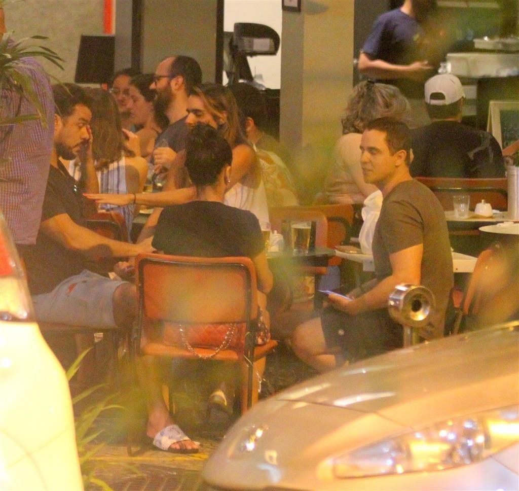 O famoso foi aos prantos na noite desta terça-feira (Foto: AgNews/ Daniel Delmiro)