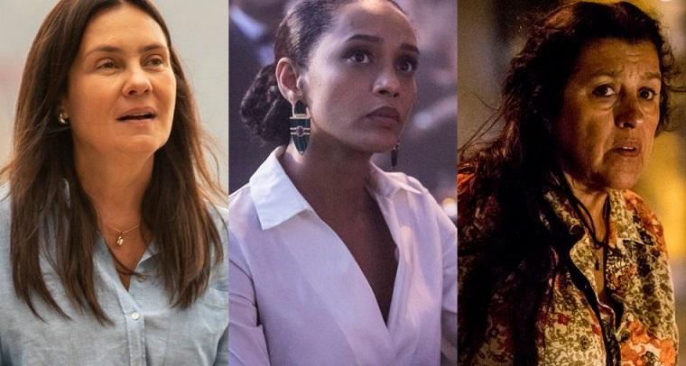 Adriana Esteves, Taís Araújo, Regina Casé, da Globo