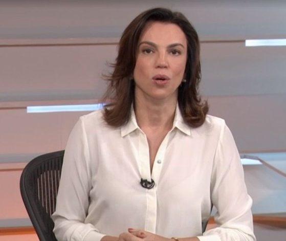 Ana Paula Araújo durante o telejornal Bom Dia Brasil (Foto: Reprodução/Globo)