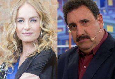 A famosa apresentadora da Globo, Angelica e o apresentador do SBT, Ratinho tiveram os seus futuros expostos (Foto: Montagem TV Foco)