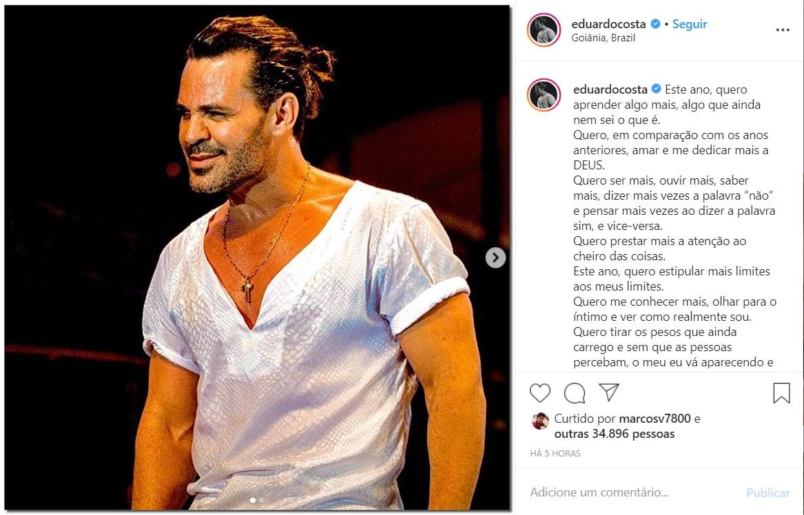 O cantor Eduardo Costa (Foto: Reprodução)