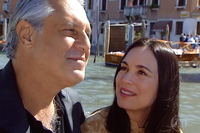 Antônio Fagundes e Regina Duarte em cena durante a novela Por Amor de Manoel Carlos, 1997 (Imagem: Reprodução)