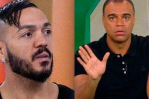 Belo teve dívida com Denílson exposta para todo o Brasil na Band (Foto: Reprodução/Band)