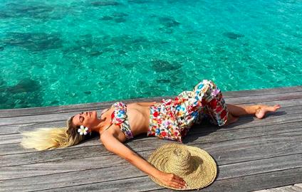 Renata Fan está aproveitando as férias nas Maldivas. Foto: Reprodução