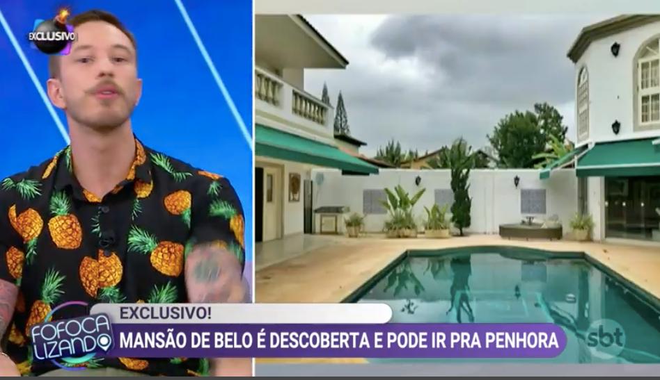 Belo tem mansão secreta descoberta. Foto: Reprodução/Fofocalizando