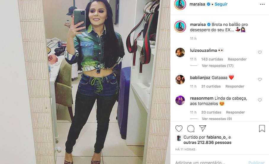 A famosa sertaneja recebeu milhares de elogios após cirurgia (Foto: Reprodução/Instagram)