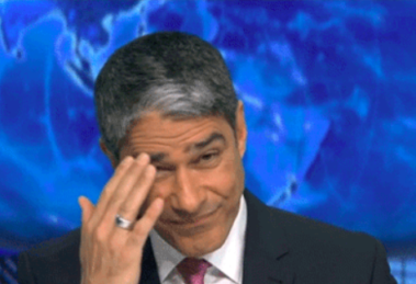 O famoso âncora da Globo surpreendeu os telespectadores (Foto: Reprodução)