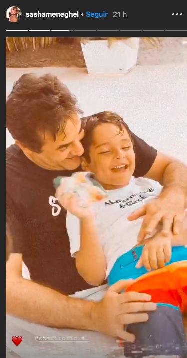 O ator da Record, Luciano Szafir foi filmado pela filha de Xuxa Meneghel em um momento para lá de fofo