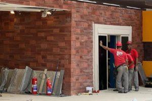 Casa do BBB20 no momento em que ainda estava em fase de construção (Foto: Divulgação)
