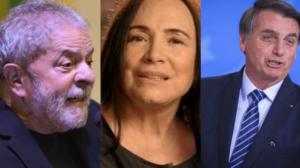 Regina Duarte foi contra eleição de Lula em 2002 e apoiou Bolsonaro em 2018 (Foto: Montagem / TV Foco)