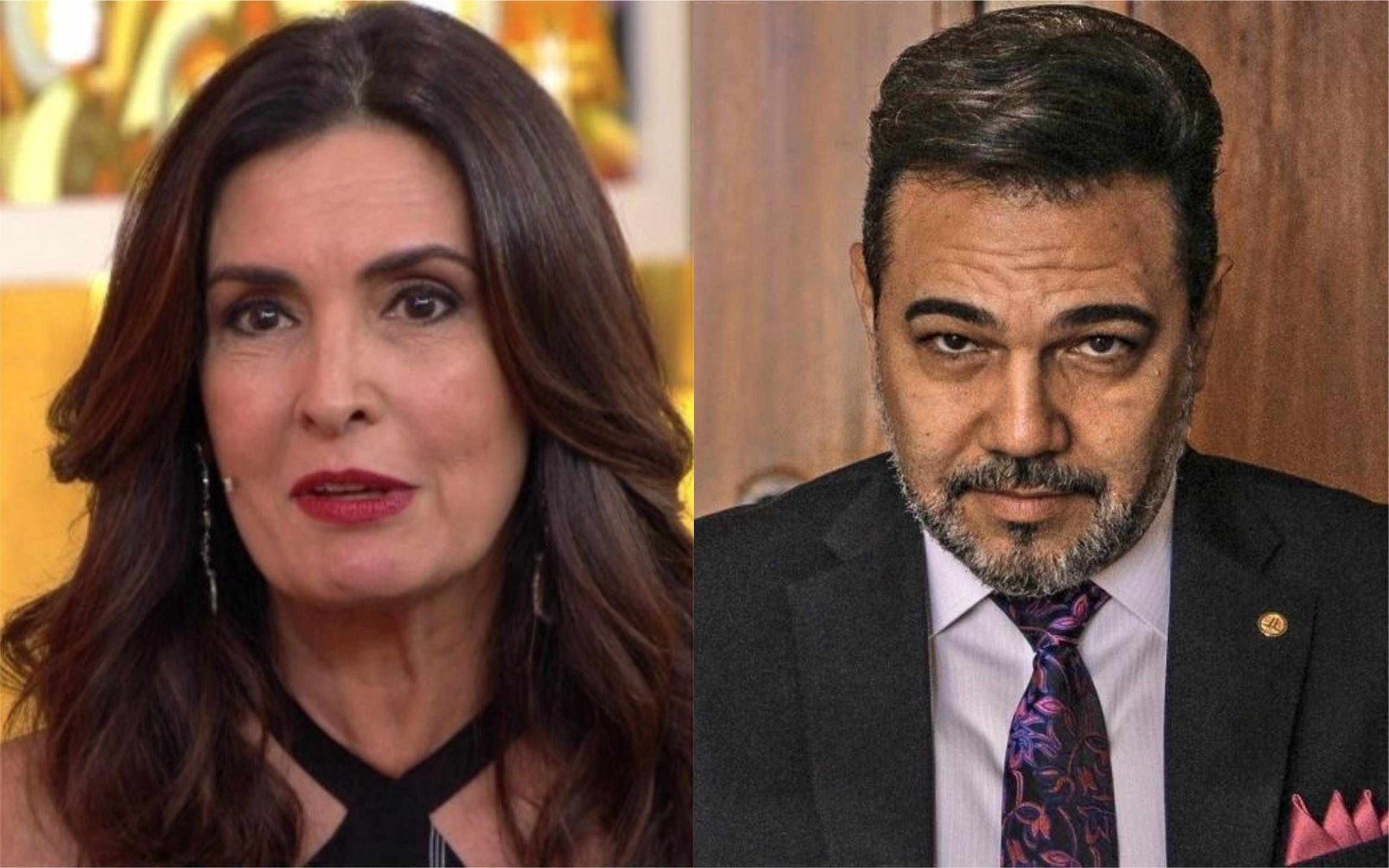 Fátima Bernardes e Marcos Feliciano (Foto: Reprodução)