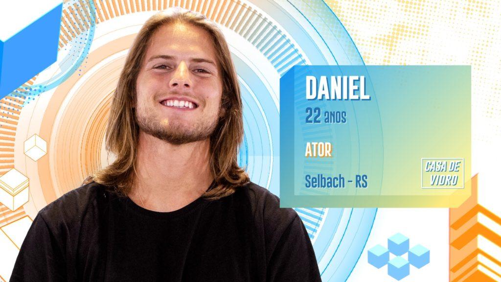 O ator Daniel está na Casa de Vidro do BBB 20 (Foto: Divulgação / TV Globo)