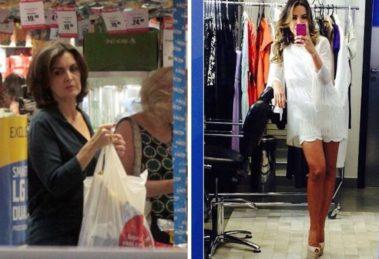 Gente como a gente! Patrícia Abravanel, Fátima Bernardes e outras celebridades milionárias flagradas fazendo compras em lojas populares