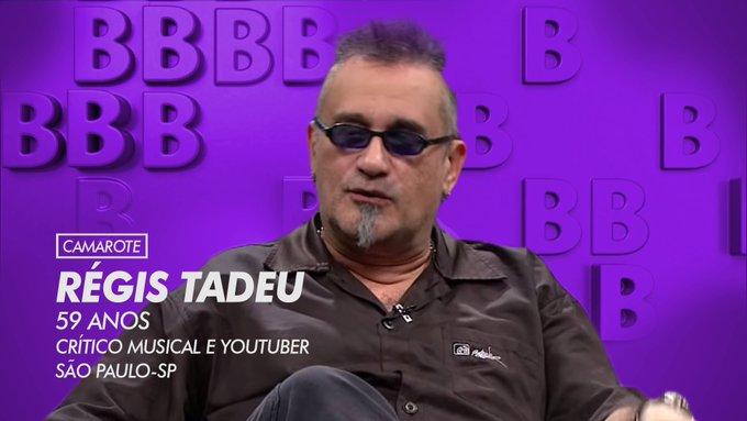 O crítico musical Régis Tadeu foi anunciado como sendo participante do BBB - Foto: Reprodução