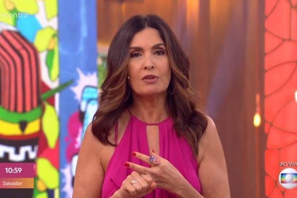 Fátima Bernardes no comando do Encontro, que saiu do ar temporariamente na Globo (Foto: Reprodução/Globo)